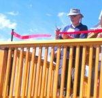 Sandy Hook's Charles Ennis cuts ribbon at Observatory 2015